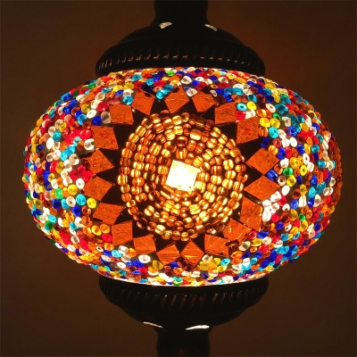 1/4 Pack Turkish Orb Hanging Light Glass 1 Light Suspension Light for Living Room(not Specified We will be Random Shipments)