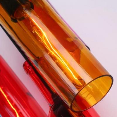 Antique Style Wine Bottle Pendant Light 1 Light Glass Hanging Light for Dining Table Bar