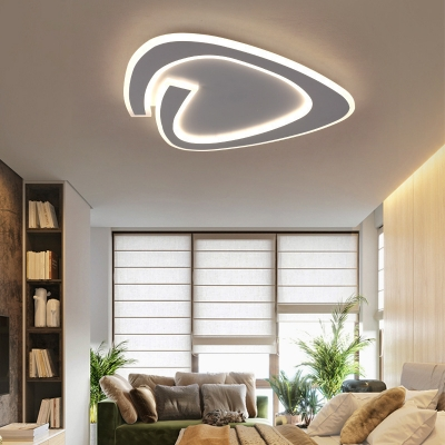 Acrylic Letter Shaped Ceiling Light Creative LED Flushmount Light in Warm/White for Dining Room