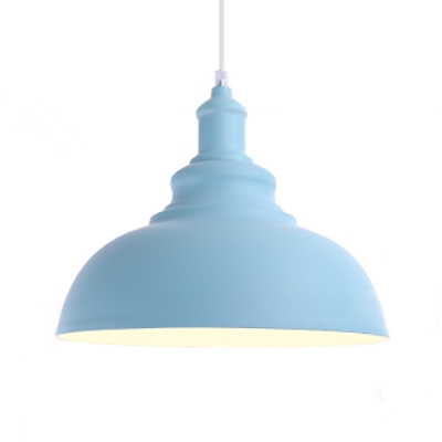 Metal Gourd Shape Pendant Lamp 1 Light Macaron Loft Hanging Light in Blue/Green/Pink/Yellow for Child Bedroom