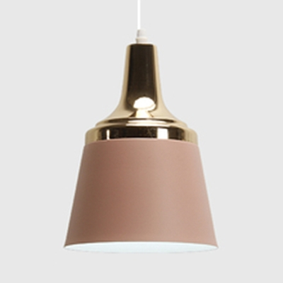 Metal Trapezoid Shade Suspension Light Office 1 Light Nordic Stylish Candy Colored Ceiling Pendant