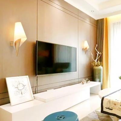 Acrylic Led Lighting Modern Style Wall Light Fixtures with Wood Base