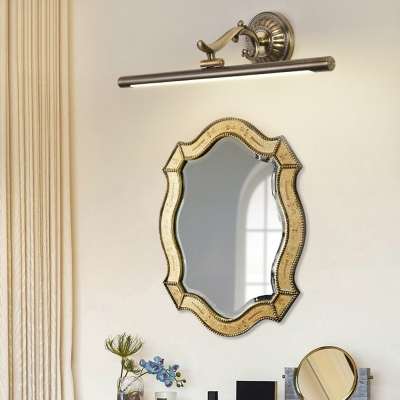 Waterproof Linear LED Wall Light Metal Antique Brass Vanity Light in Neutral for Dressing Room