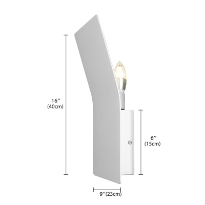"Wrought Iron Bend Designer Wall Light In Brilliant Design 15.7""Height"