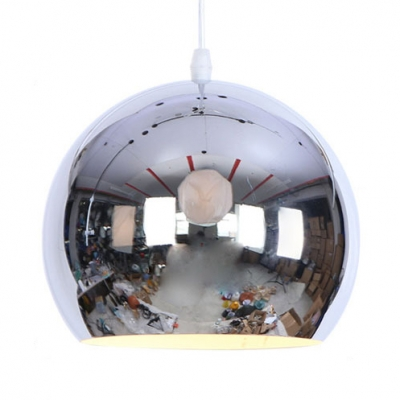 Metal Angle Adjustable Orb Hanging Light 1 Light Contemporary Ceiling Pendant in Chrome/Rose Gold for Kitchen