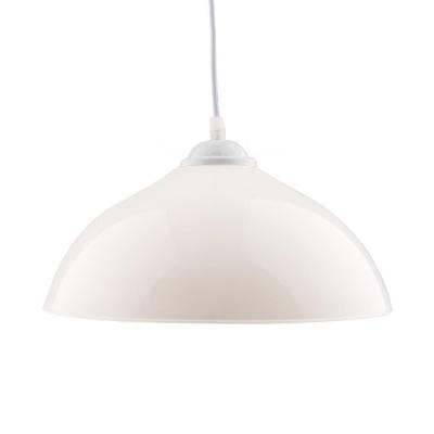 Plastics Dome Hanging Light Restaurant Kitchen 1 Light Industrial Suspension Light