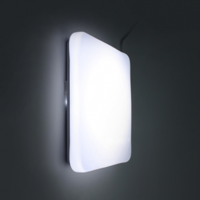 Square/Round Porch LED Ceiling Mount Light Acrylic Motion Sensor & Dusk to Dawn Sensor Flushmount Light