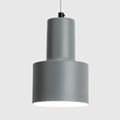 Dining Room Cylinder Pendant Light Aluminum Single Light Contemporary Candy Colored Hanging Light