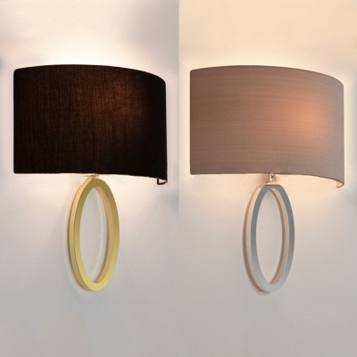 Metal Fabric Sconce Light 1
