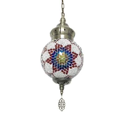 1/4 Pack Moroccan Turkish Ceiling Pendant Lantern Shape 1 Light Glass Hanging Light for Shop(not Specified We will be Random Shipments)