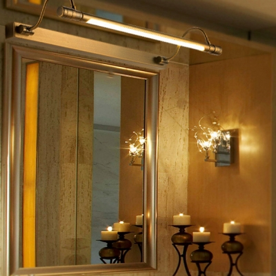 21/27 Inch LED Mirror Light Vintage Style Metal Vanity Light in Bronze for Bedroom Gallery