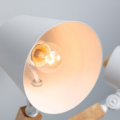 Macaron Style Bucket Chandelier 3/6 Lights Wood Metal Pendant Lamp in Gray/Green/White for Bedroom