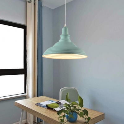 Macaron Blue/Green/Pink Suspension Light Double Bubble 1 Light Metal Hanging Light for Kitchen