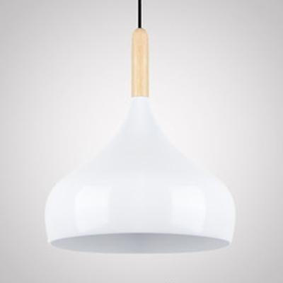 Modern Black/Gray/White Hanging Light Onion Shade 1 Light Aluminum Pendant Lamp for Cloth Shop