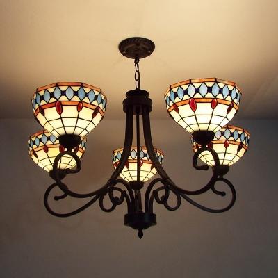 Lights Dome Pendant Lamp Tiffany Style