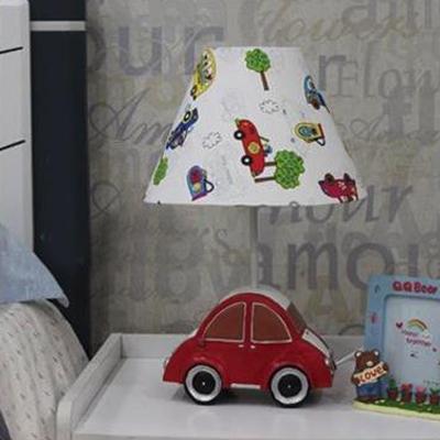 Resin Cartoon Car Desk Light 1 Light Creative Study Light in Blue/Red for Child Bedroom