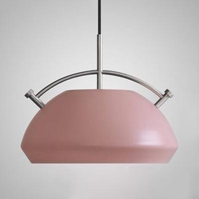 Blue/Green/Pink/Yellow Pendant Light One Light Macaron Loft Metal Hanging Light for Restaurant