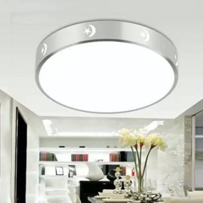 Bedroom Star Moon Flush Ceiling Light Aluminum Modern LED Ceiling Lamp in Warm/White