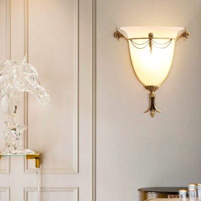 Bell Shade Gallery Wall Light Frosted