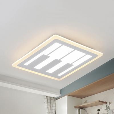 Creative Square Piano Ceiling Light Metal Warm Lighting White