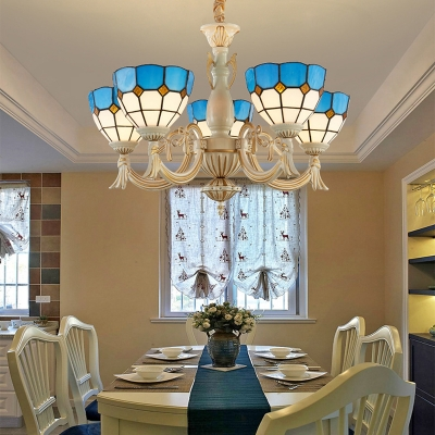Stupendous Dining Room Dome Shade Chandelier Glass 5 Lights Tiffany Style Download Free Architecture Designs Xoliawazosbritishbridgeorg