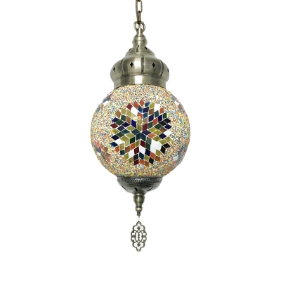 1/6 Pack Moroccan Hanging Light Globe Shade 1 Light Glass Ceiling Pendant for Villa(not Specified We will be Random Shipments)