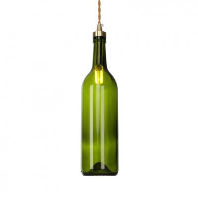 One Light Wine Bottle Ceiling Pendant Retro Loft Glass Multi-Color Choice Hanging Light for Bar
