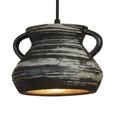 Creative Bell/Bucket/Pot Hanging Light 1 Light Ceramics Pendant Lamp for Cafe Restaurant