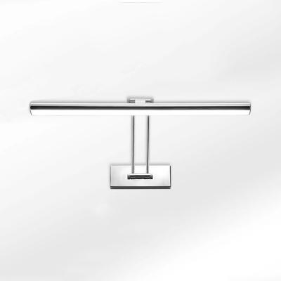 Modern Linear LED Vanity Light Rotatable Chrome Metal Sconce Light with White Lighting for Bathroom
