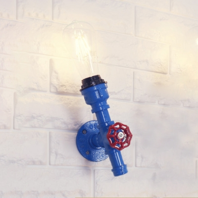 1/5 Pack Industrial Pipe Wall Sconce Wrought Iron 1 Head Multi Color Choice Wall Lamp for Bar