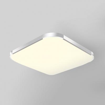 Motion Sensor Square Ceiling Mount Light Acrylic White LED Flush Light for Living Room