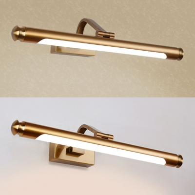 Waterproof Linear Wall Sconce 20.5/26 Inch Metal LED Sconce Light in Brass for Bathroom
