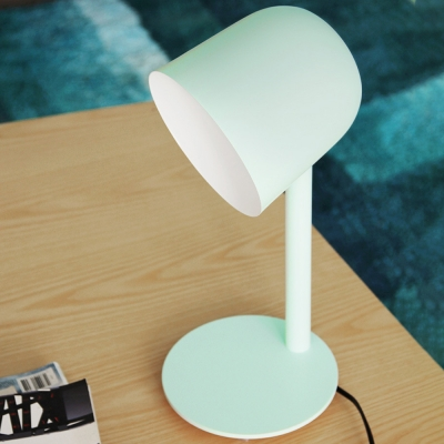 1 Light Dome Desk Light Modern Plug In Macaron Colored LED Study Light for Dormitory Bedroom