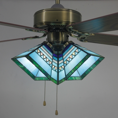 Led Semi Flushmount Light Tiffany Gl