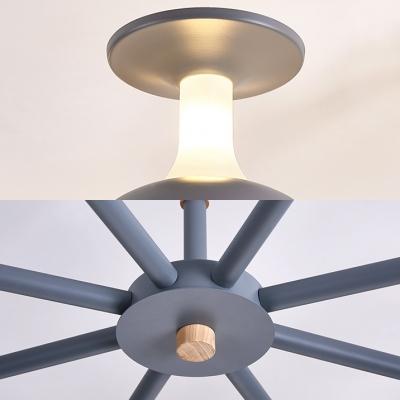 Modern Style Ceiling Light 3/6 Light Metal Shade for Bedroom Living Room