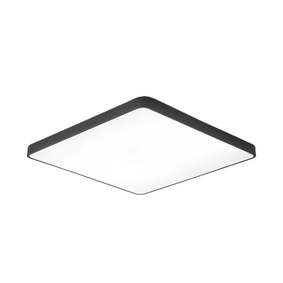 Black/White Square LED Ceiling Mount Light Radar Sensor/Sound Activated Flushmount for Corridor