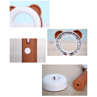 Kid Bedroom Animal LED Desk Lamp Silica Gel Lovely Switch Reading Light with USB Charging Port