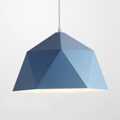 Metal Diamond Shaped Ceiling Light Shop One Light Macaron Loft Candy Colored Pendant Light