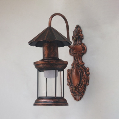 Retro Stylish Kerosene Wall Light Single Light Metal Wall Lamp in Aged Brass/Antique Copper/Black for Bar