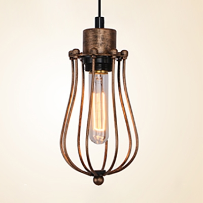 hot sale online 9e8e3 07faa 3 Lights Wire Frame Hanging Light Industrial Metal Pendant Lamp in