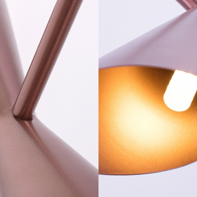 Study Room Shop Hourglass Wall Light Metal Nordic Style Rose Gold LED Wall Sconce