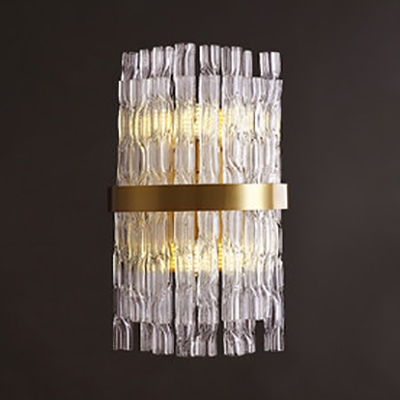 Bedroom Bathroom Swirl Crystal Wall Light Two Lights Contemporary Gold