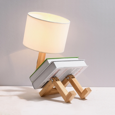 Modern Robot Table Lamp Distinctive Unique Adjustable Diy Book Night