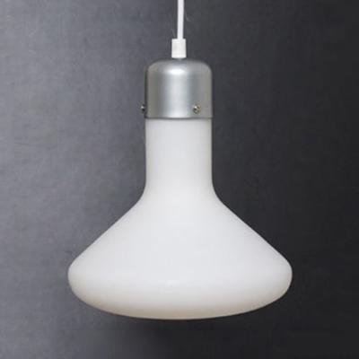 Frosted Glass Flask Pendant Light Nordic Single Light Hanging Lamp for Cafe Bar Restaurant