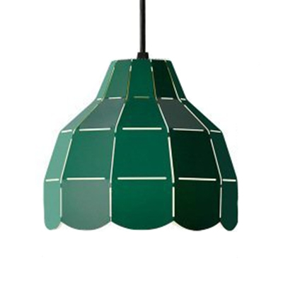 Nordic Style Domed Hanging Pendant Metal Shade 1-Light Suspension in Multi Colors