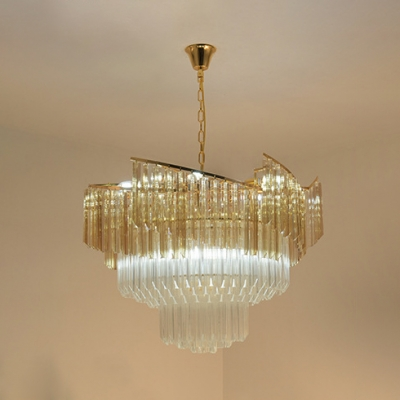 Round Adult Bedroom Chandelier Clear Crystal 7 Lights Romantic Style Ceiling Pendant