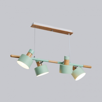 Boutiques Round Island Chandelier Metal 4 Lights Nordic Style Gray/Green/White Island Pendant