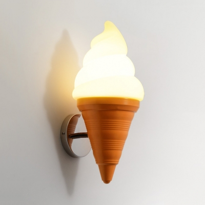 Kindergarten Ice Cream Cone Wall Light Acrylic Warm Lighting Wall Lamp