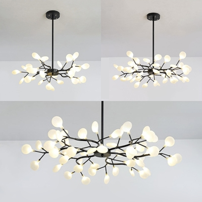 Metal Twig Pendant Light 30 45 54 Heads, Contemporary Chandeliers For Dining Room