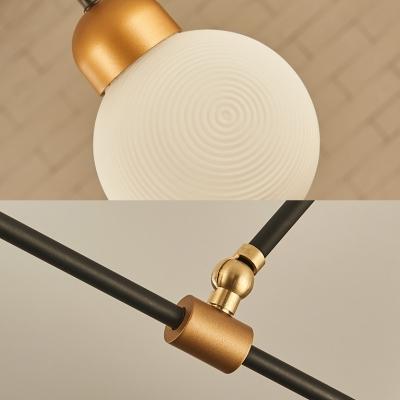 Restaurant Hotel Modo Island Chandelier Milk Glass 8 Heads Modern Simple White Island Lamp